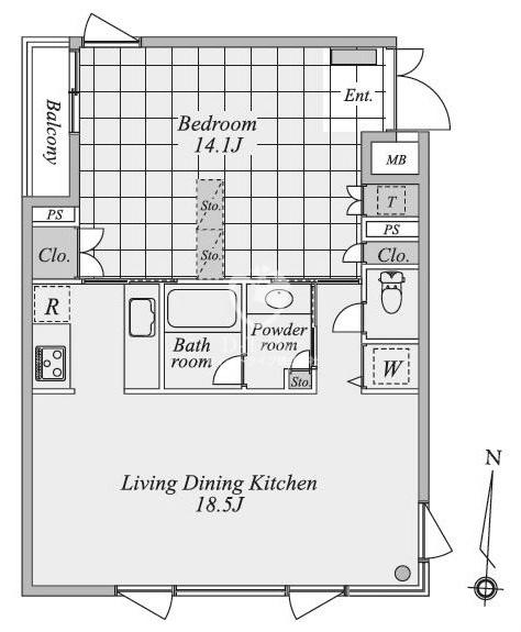 月光町アパートメント[201号室]の間取り 月光町アパートメント