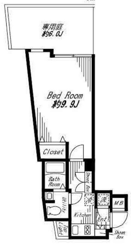 ビバリーホームズ代官山[205号室]の間取り ビバリーホームズ代官山