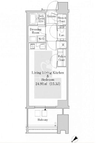 ラ・トゥール新宿ガーデン[2920号室]の間取り ラ・トゥール新宿ガーデン