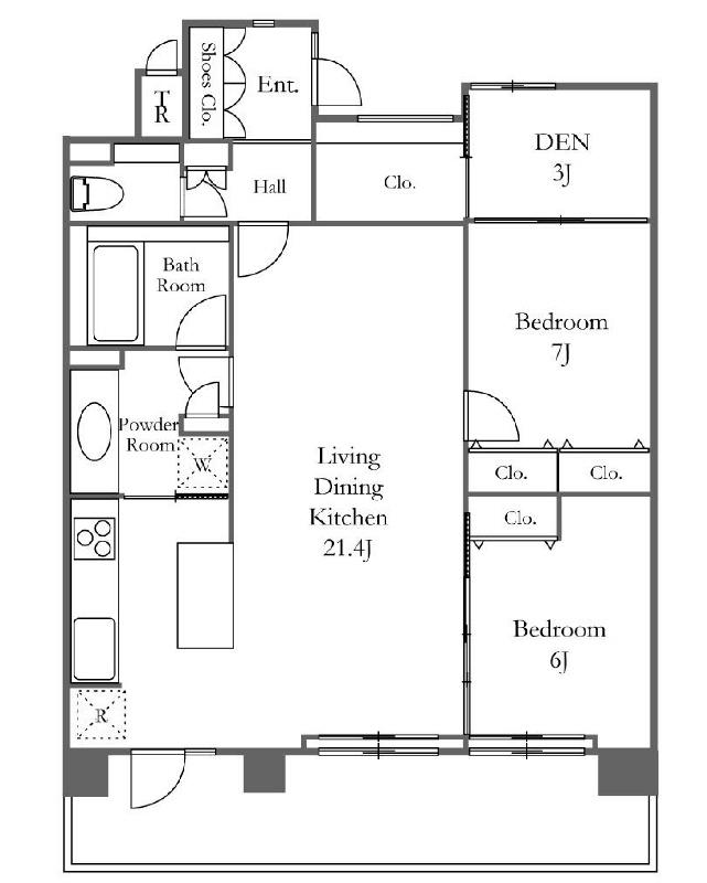 深沢ハウス[1403号室]の間取り 深沢ハウス