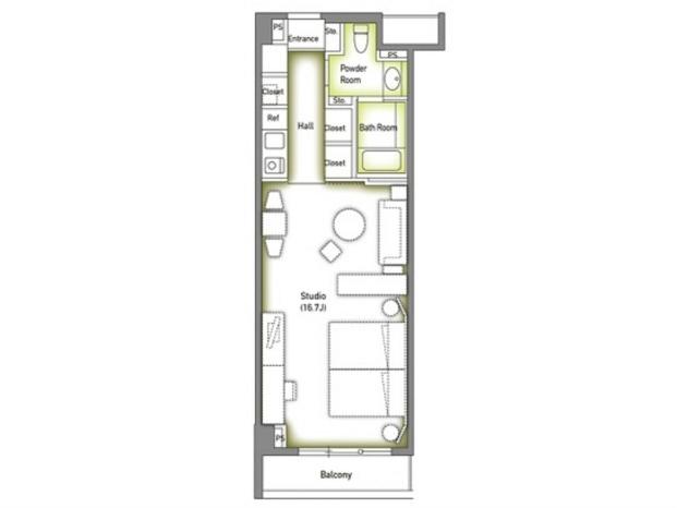 ROPPONGI DUPREX M's(六本木デュープレックス エムズ)[419号室]の間取り 六本木デュープレックス エムズ