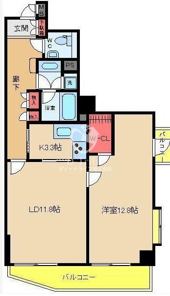 NK青山ホームズ[405号室]の間取り NK青山ホームズ