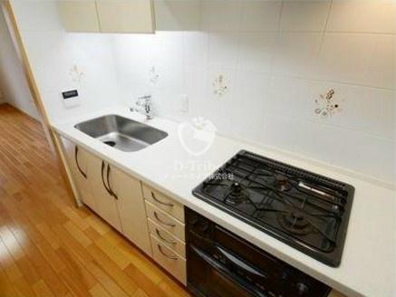 グランドパーク恵比寿センシュアス[6階号室]のキッチン グランドパーク恵比寿センシュアス