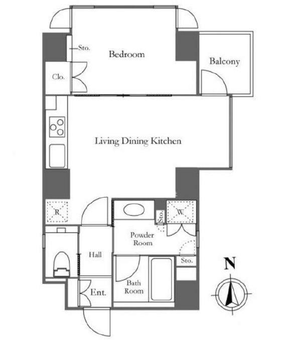 ラスパシオ麻布笄町レジデンス[4階号室]の間取り ラスパシオ麻布笄町レジデンス