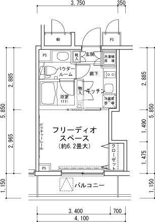 MG目黒駅前[202号室]の間取り MG目黒駅前