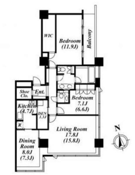 パークコート麻布十番ザタワー[31階号室]の間取り パークコート麻布十番ザ・タワー