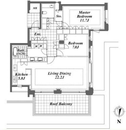 プライムメゾン御殿山[3階号室]の間取り プライムメゾン御殿山
