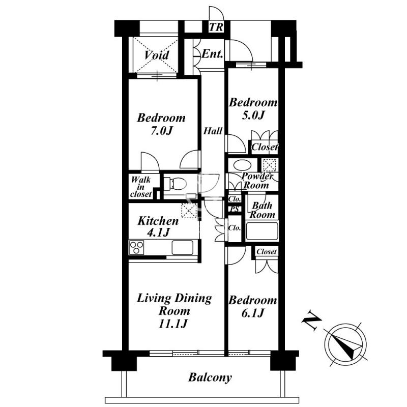 深沢ハウス[702号室]の間取り 深沢ハウス
