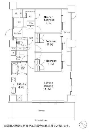 MFPR目黒タワー[104号室]の間取り MFPR目黒タワー