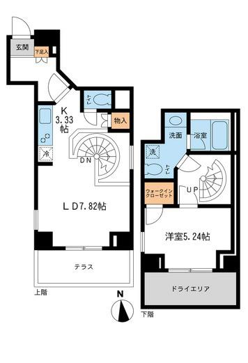 レジデンス白金コローレ[114号室]の間取り レジデンス白金コローレ