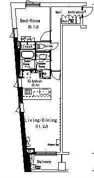 ルフォンプログレ南麻布[207号室]の間取り ルフォンプログレ南麻布