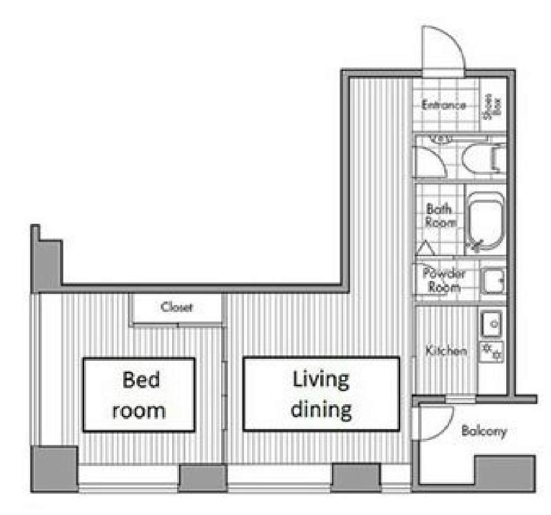 レジディアタワー麻布十番[603号室]の間取り レジディアタワー麻布十番