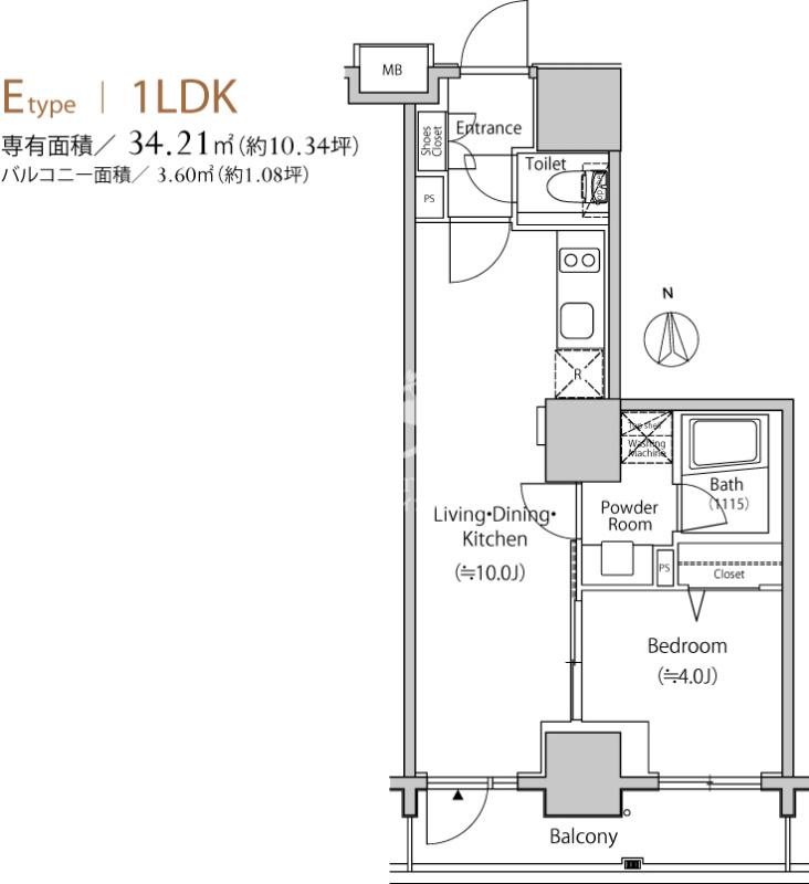 セレニティコート渋谷神泉[305号室]の間取り セレニティコート渋谷神泉