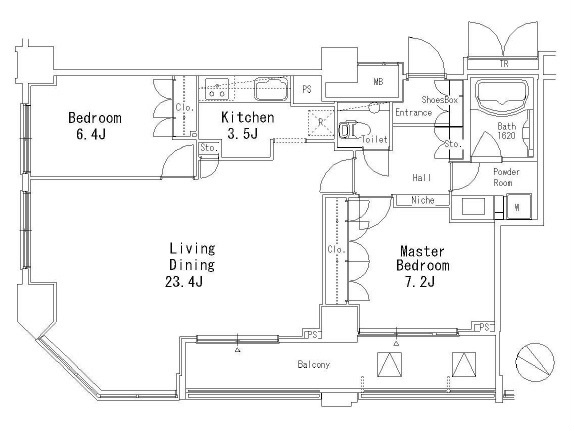 MFPR目黒タワー[1805号室]の間取り MFPR目黒タワー