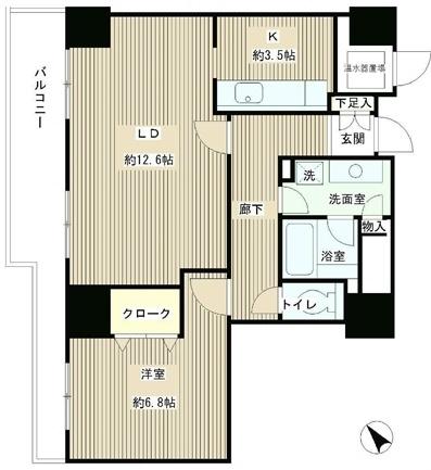 トレステージ目黒[1405号室]の間取り トレステージ目黒