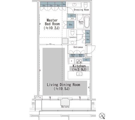 東京ミッドタウン・レジデンシィズ[1401号室]の間取り 東京ミッドタウン・レジデンシィズ