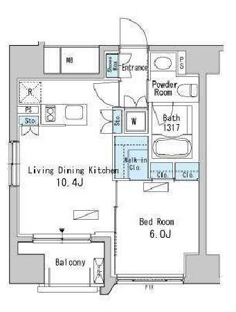 ベルファース目黒[703号室]の間取り ベルファース目黒