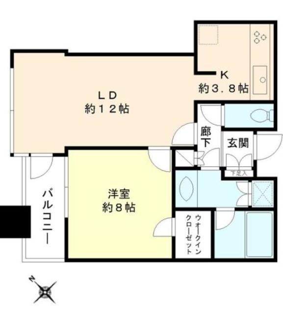 ル・サンク大崎シティタワー[1310号室]の間取り ル・サンク大崎シティタワー