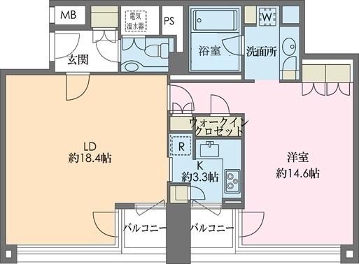 ストーリア赤坂[203号室]の間取り ストーリア赤坂