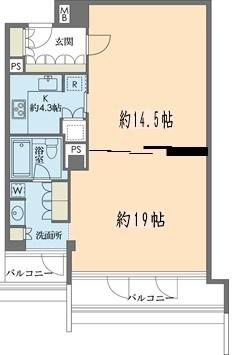ストーリア赤坂[603号室]の間取り ストーリア赤坂