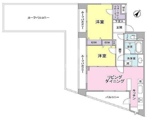 プロスペクト渋谷道玄坂[1301号室]のプロスペクト渋谷道玄坂