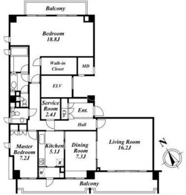 パークハウス西麻布[6階号室]のパークハウス西麻布