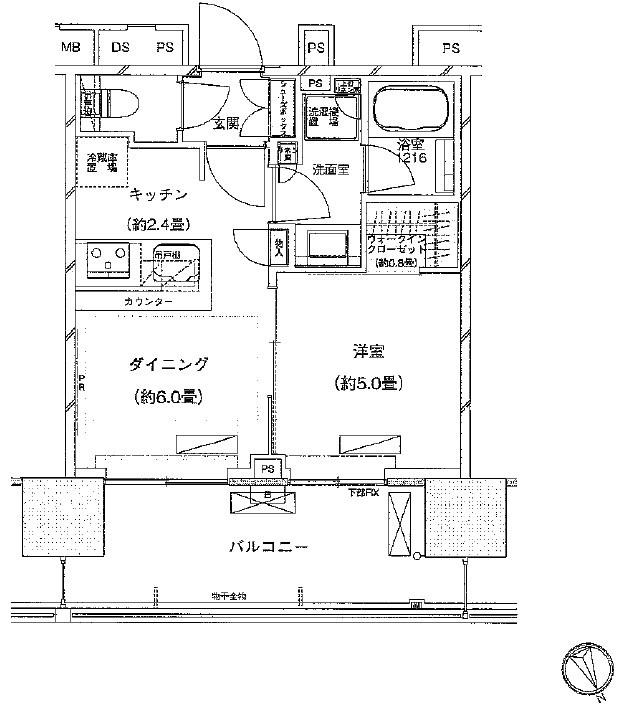 ザ・パークハウス渋谷美竹[603号室]の間取り ザ・パークハウス渋谷美竹