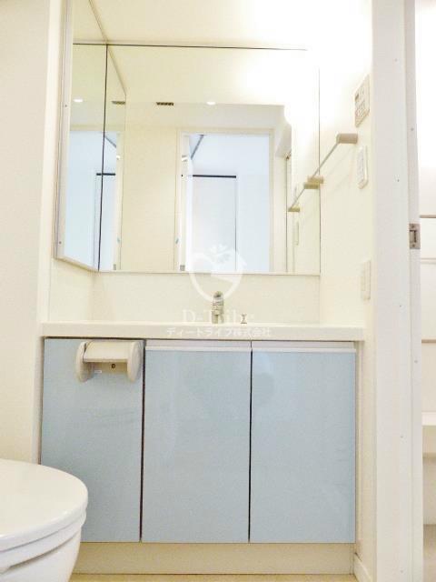 フレンシア麻布十番サウス[804号室]の独立洗面台 フレンシア麻布十番サウス